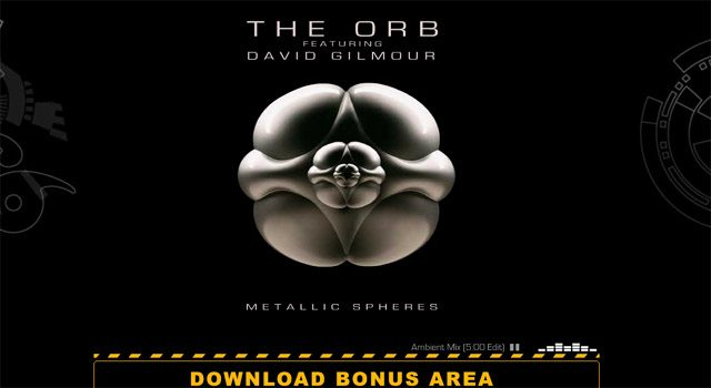 David Gilmour Metallic Spheres Microsite