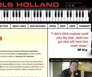 Jools Holland Website